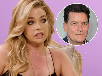 Denise Richards BREAKS DOWN While Discussing Co-Parenting with Charlie Sheen