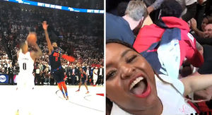 Damian Lillard's Sister Stormed Court For Game Winner, 'That's My MF'ing Bro!'
