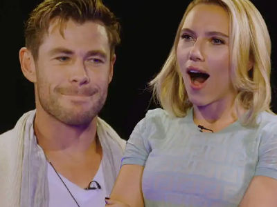 Watch Chris Hemsworth & ScarJo INSULT Each Other for 5 Minutes Straight