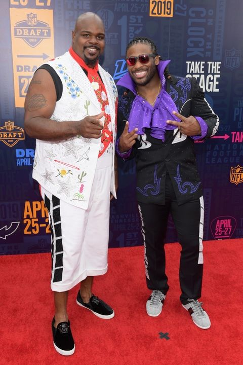Vince Wilfork and DeAngelo Williams