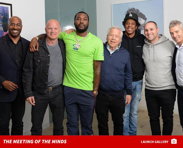 Jay-Z & Meek Mill Standing By Robert Kraft ... During Spa Case