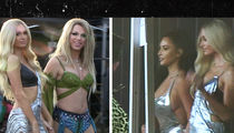 Kim Kardashian On Set for Paris Hilton's New Music Vid, 'Best Friend's Ass'