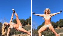 Britney Spears Strikes Yoga Poses in Bikini Post-Facility Check Out