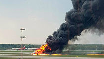 Russian Plane Catches on Fire Mid-Flight, Over 40 Dead