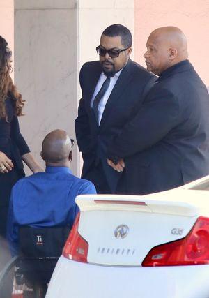 Stars Arriving to John Singleton's Funeral Service
