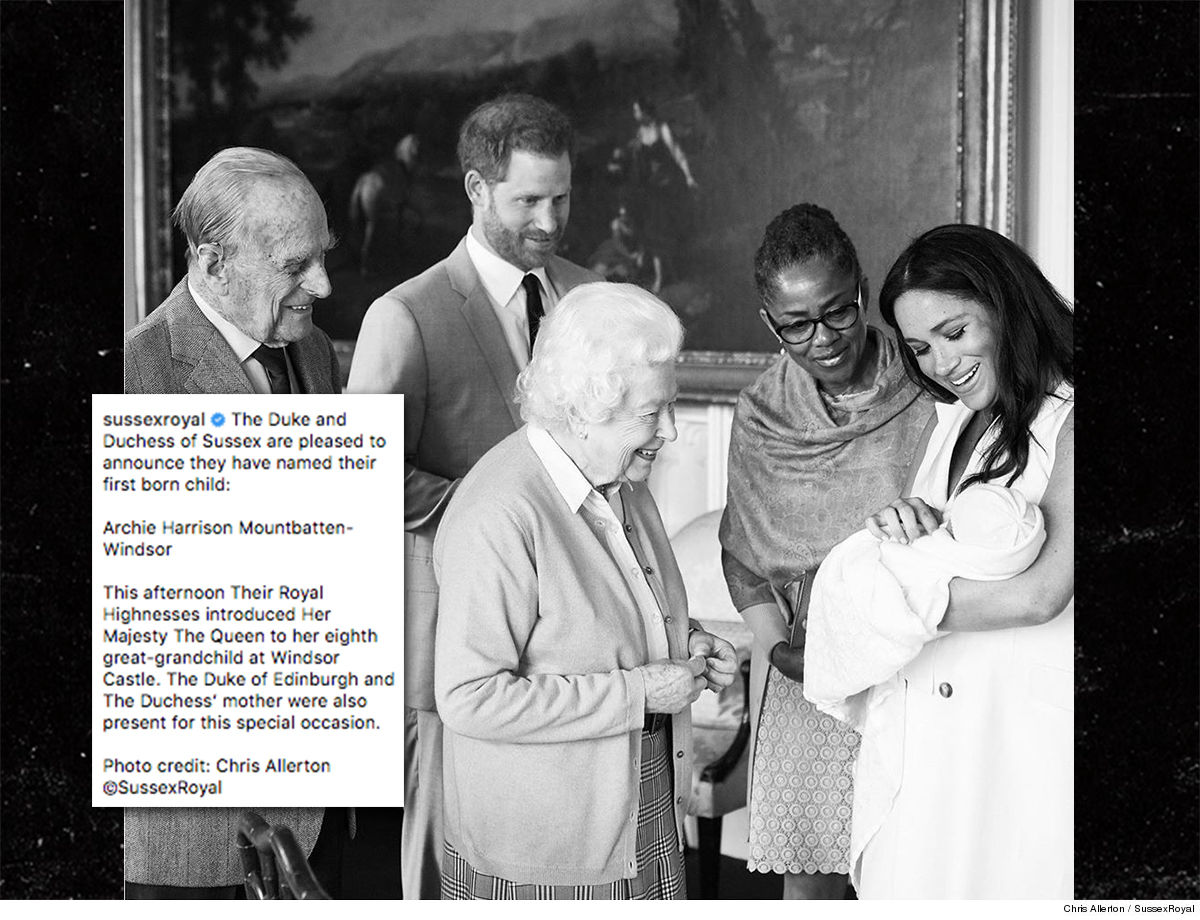 Pictures of baby sussex with the queen