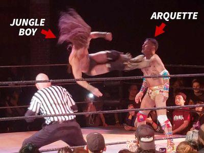 Luke Perry's Son Destroys David Arquette In Pro Wrestling Event