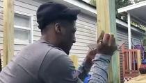 Michael Thomas & Saints Stars Help Build Ramp For Disabled Man