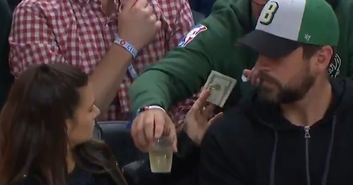 Danica Patrick Fan Buys Her A Drink ... Right In Front Of Rodgers!