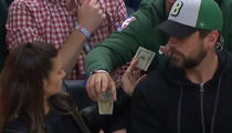 Danica Patrick Fan Buys Her A Drink Right In Front Of Aaron Rodgers