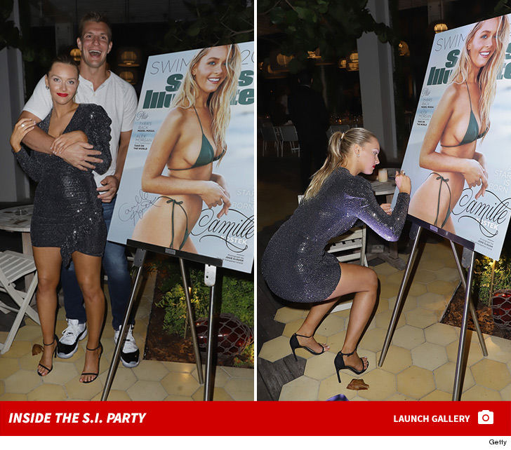 Rob Gronkowski Squats Camille Kostek At Nightclub Bash