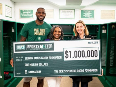 LeBron James Presents $1 Million Check to I Promise School for New Gym