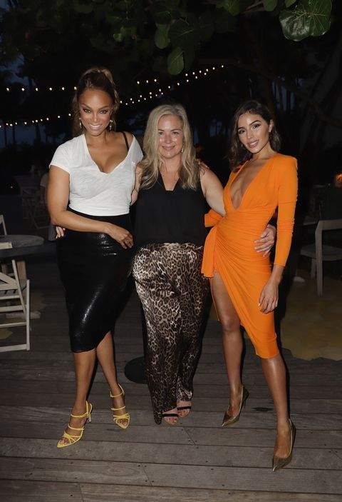 Tyra Banks, MJ Day and Olivia Culpo