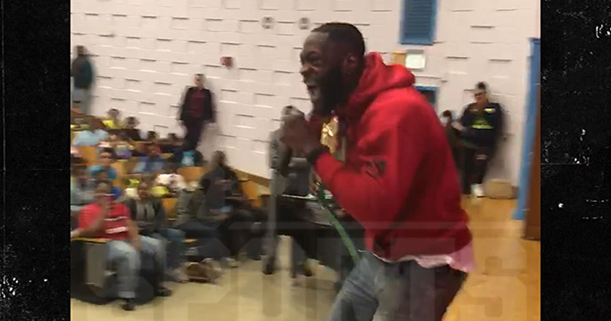 Deontay Wilder Epic Pump-Up Speech To Elementary School Kids