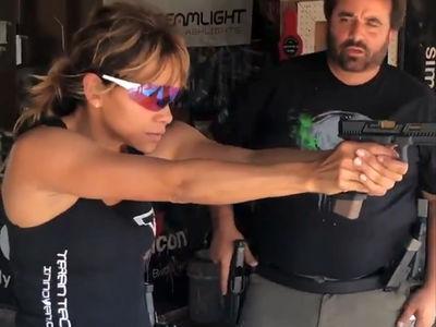 Halle Berry Hits Gun Range to do Badass Training for 'John Wick 3'