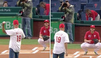 Bruce Willis One-Hops Ceremonial First Pitch, Gets Booed