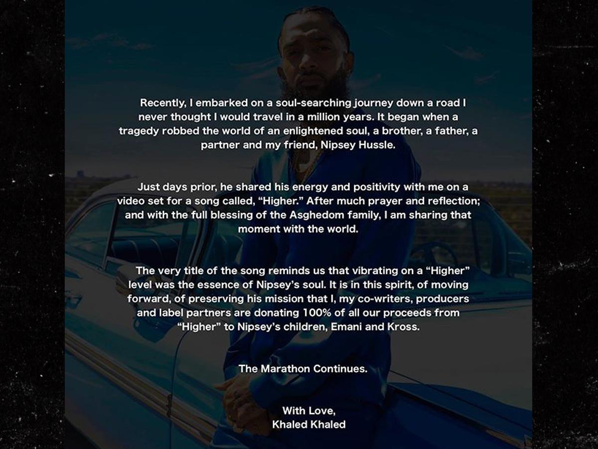Nipsey Hussle First Look at His Last Music Video ... w/ DJ Khaled, John Legend
