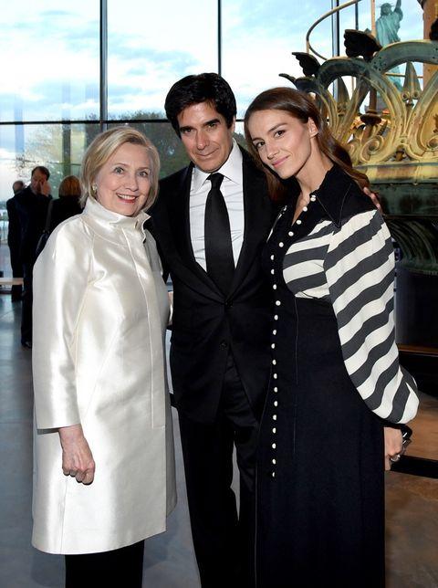 Hillary Clinton, David Copperfield and Chloe Gosselin