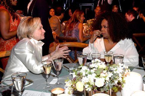 Hillary Clinton and Oprah Winfrey