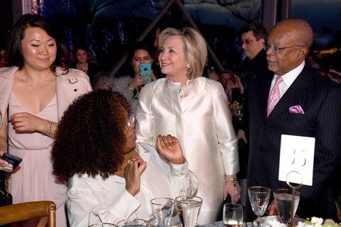 Oprah Winfrey, Hillary Clinton and Henry Louis Gates Jr.