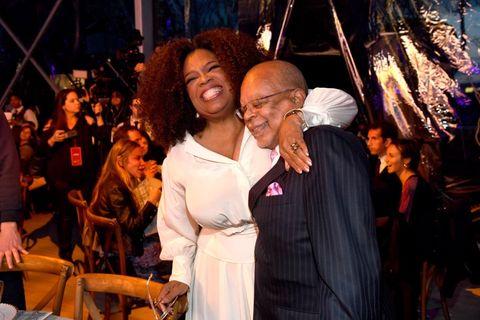 Oprah Winfrey and Henry Louis Gates Jr.