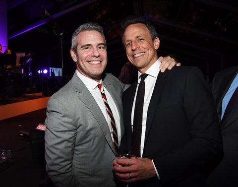Andy Cohen and Seth Meyers