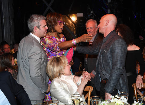Andy Cohen, Gayle King, Hillary Clinton, Miguel Bezos and Jeff Bezos