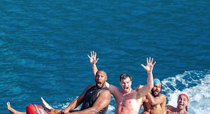 LeBron's Banana Boat Pic Recreated By Spurs Stars On Giant Wiener