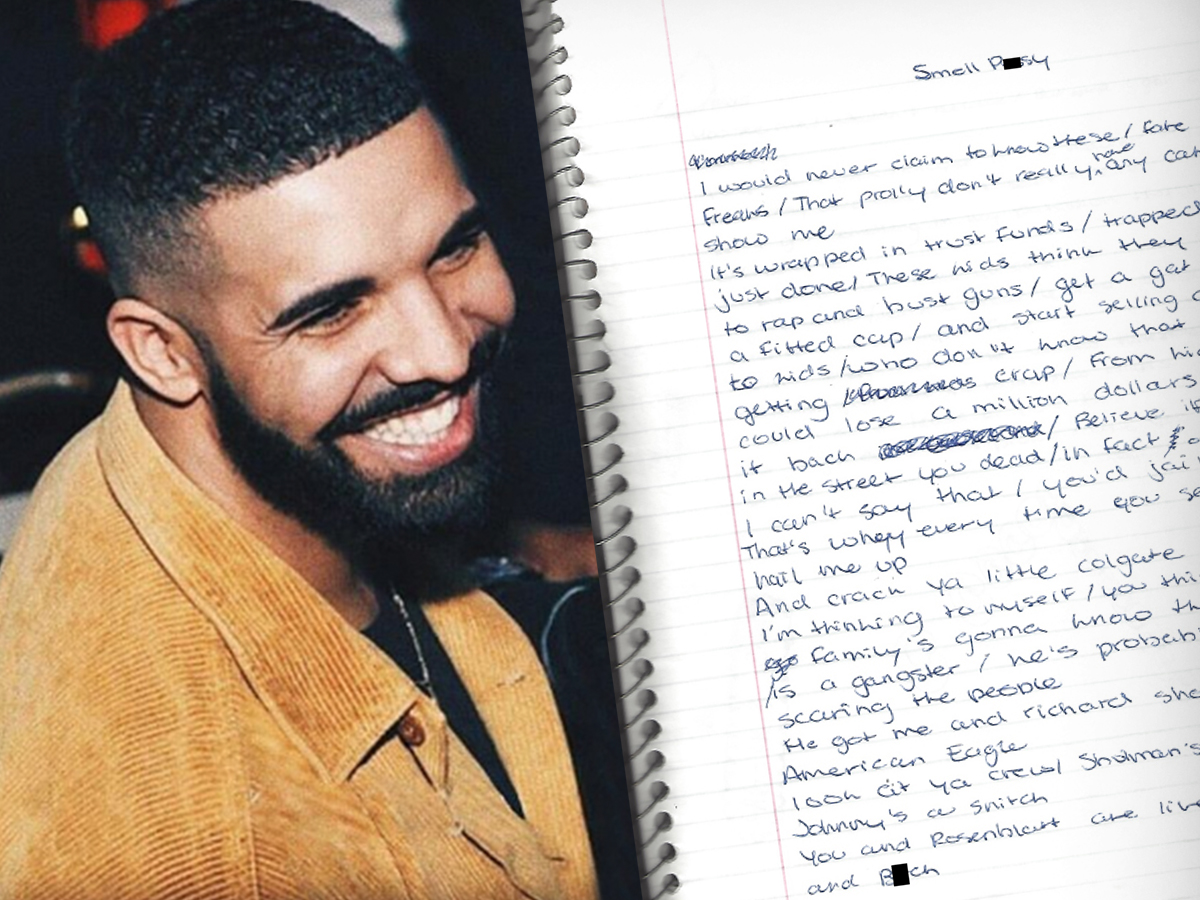 Drake's Old Notebook Showing His Teenage Love for Lacoste Up For Sale