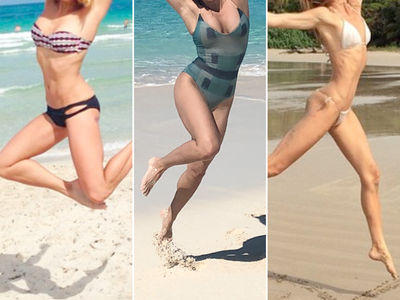 Leaping Beach Babes -- Guess Who!