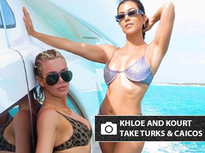 Khloe and Kourtney Kardashian SIZZLE in Bikinis on Girls Trip -- See All the Pics!