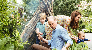 Kate Middleton's Kids Play in Her Whimsical 'Back to Nature' Garden