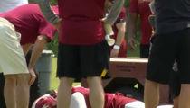 Reuben Foster Injured At Redskins' Practice, Carted Off With Cast On Leg
