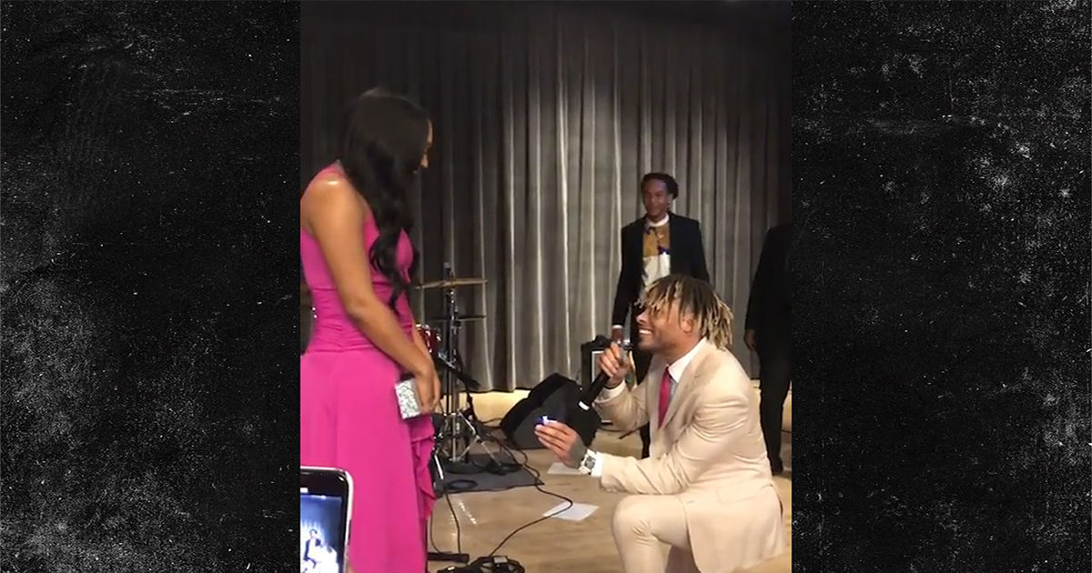 Tyrann Mathieu Proposes To Longtime GF ... With Epic Diamond Ring!!!
