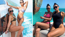 Kourtney and Khloe Take Turks & Caicos ... Check Out The Sexy Girls Trip!