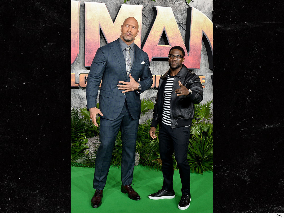 Kevin Hart Dwayne Johnson Swiped My Nickname ... I'm The Real Rock!!!