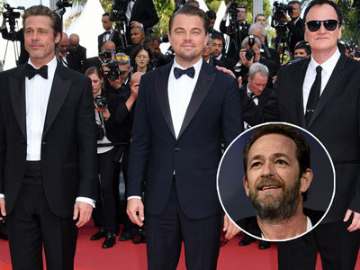 Brad Pitt & DiCaprio Totally FANBOYED Over LUKE PERRY on Set of 'Once Upon a Time in Hollywood'