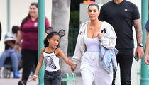 Kim Kardashian Takes North West to Disneyland For Friend's Birthday