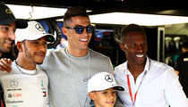 Cristiano Ronaldo Crashes Monaco Grand Prix, Hangs with Lewis Hamilton