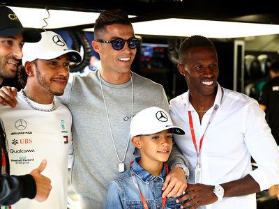 Cristiano Ronaldo Crashes Monaco Grand Prix, Hangs with Lewis Hamilton