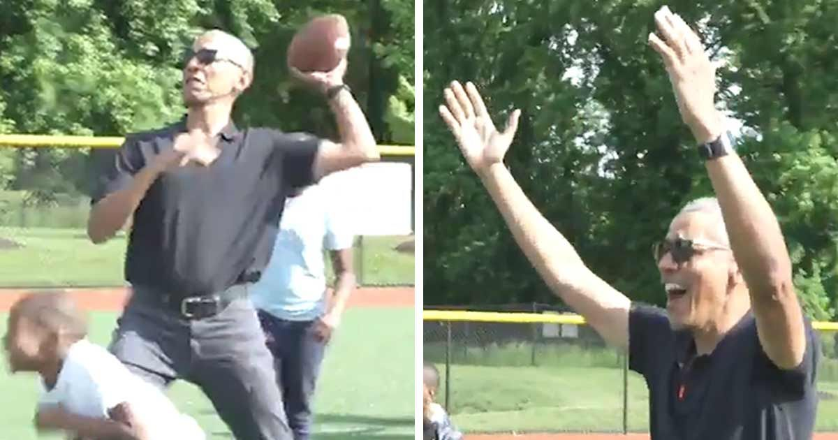 Barack Obama I'm Your QB, Kids ... Ballin' at Youth Academy!!!