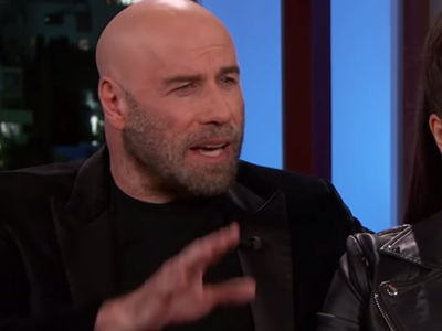 Travolta's Beautiful 19-Year-Old Daughter Joins Him on Kimmel -- as They Talk Viral New Look!