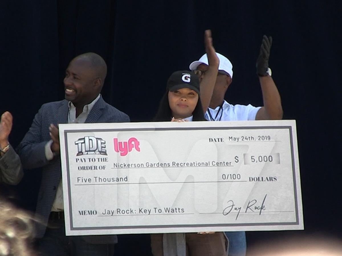 Jay Rock Winning in Watts ... Receives Key to His L.A. Neighborhood