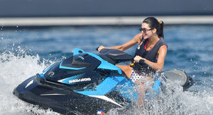 Kendall Jenner Jetskis with Luka Sabbat in Monaco