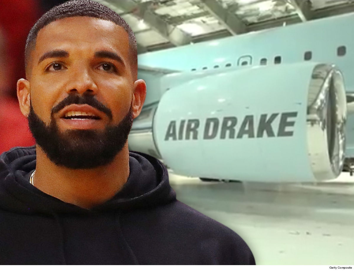 36f348d624e Drake's refueling in the Caribbean before his Raptors take on the Warriors  in the NBA Finals -- flying down in his massive new jet ... which is a  monster ...