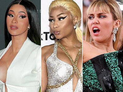 Miley Cyrus Picks a Side Between Nicki Minaj and Cardi B with New Rap