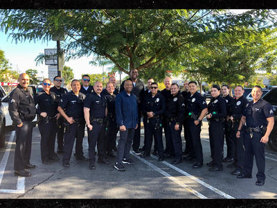 Magic Johnson Crashes LAPD Roll Call, 'It Made Our Day!'
