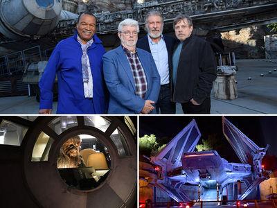 Disneyland's New 'Star Wars' Attraction Opens with Luke, Han, Lando on Hand