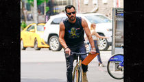 Justin Theroux Takes Britney Spears for Ride on Muscle Tee