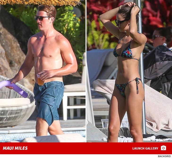 Miles Teller Keeps 'Top Gun' Look and Model GF Shows Off Bikini Bod in Maui